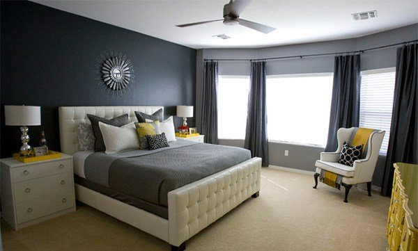 Best 15 Visually Pleasant Yellow And Grey Bedroom Designs With Pictures