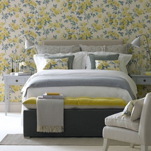 Best Floral Bedrooms With Wallpaper Theme With Pictures