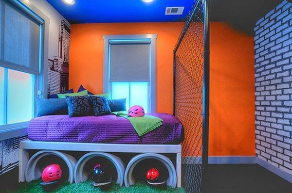Best Cool Kids Bedroom Ideas With Graffiti Theme With Pictures