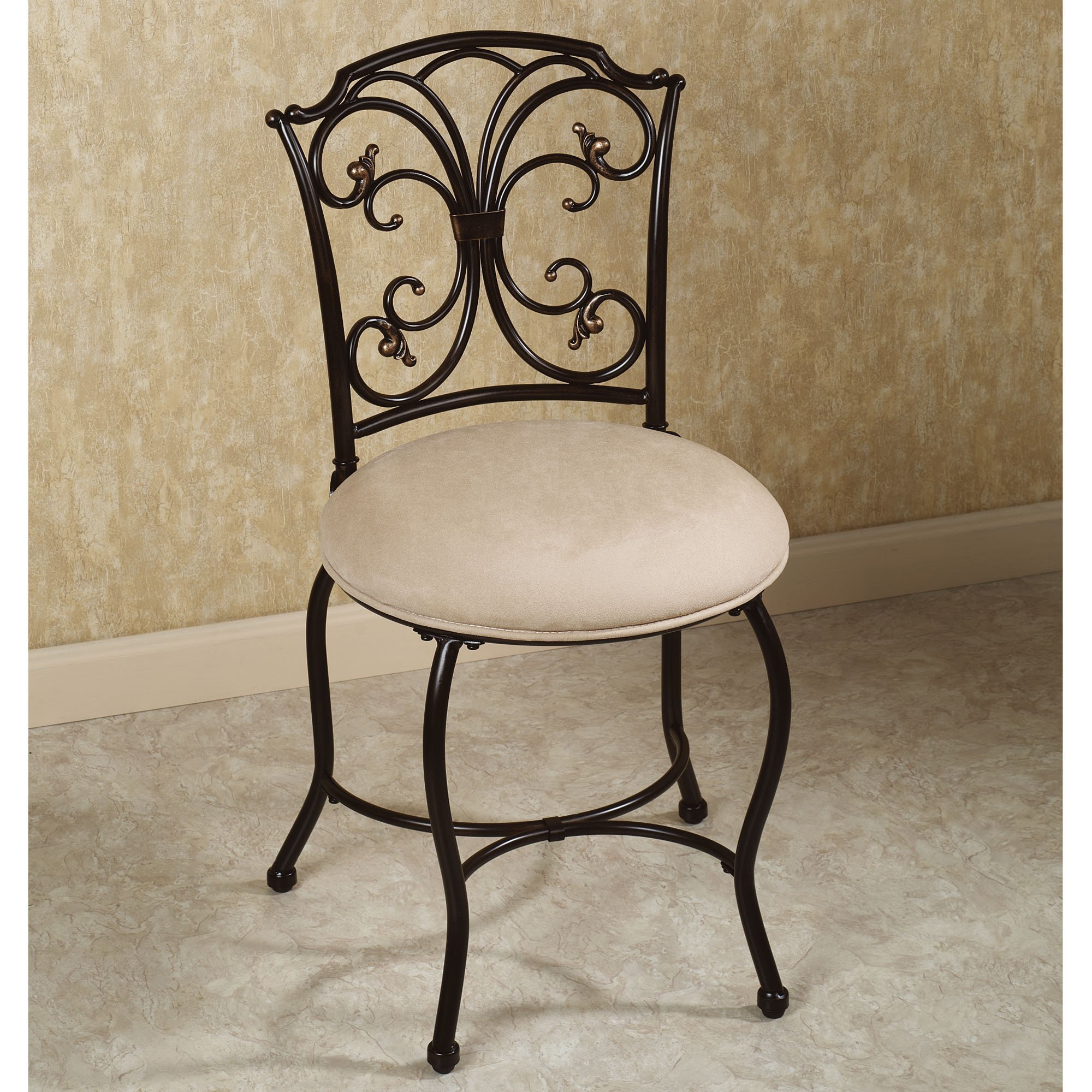 Best Vanity Chair With Back Design Options Homesfeed With Pictures