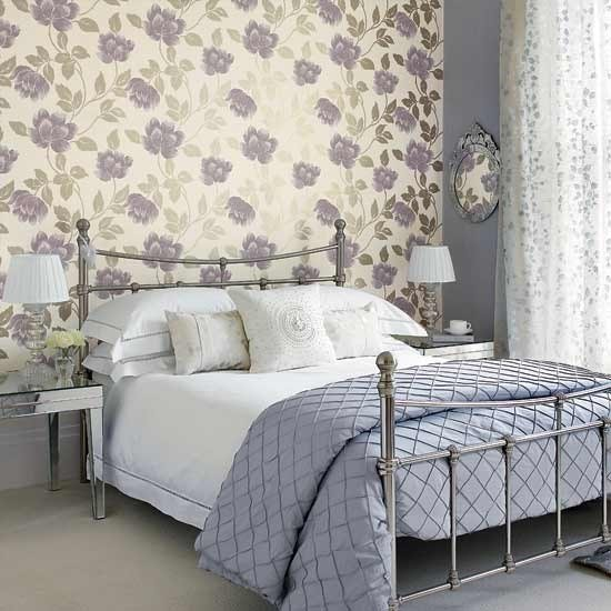 Best Bedroom With Large Patterned Wallpaper Traditional With Pictures