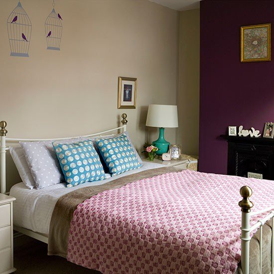Best Cream And Plum Bedroom Bedroom Decorating Housetohome With Pictures