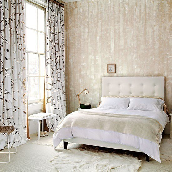 Best Neutral Bedroom With Textured Wallpaper Neutral Bedroom With Pictures