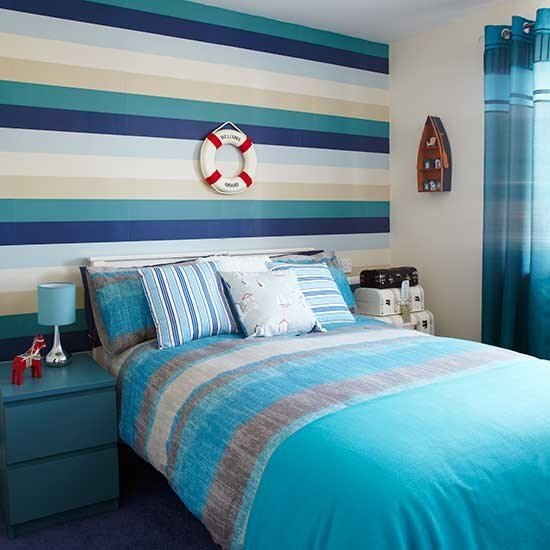 Best Nautical Striped Bedroom Bedroom Colour Schemes With Pictures