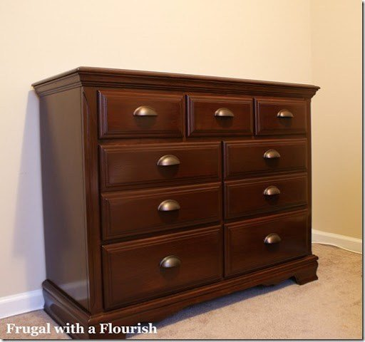Best Frugal With A Flourish How To Str*P And Restain A Dresser With Pictures