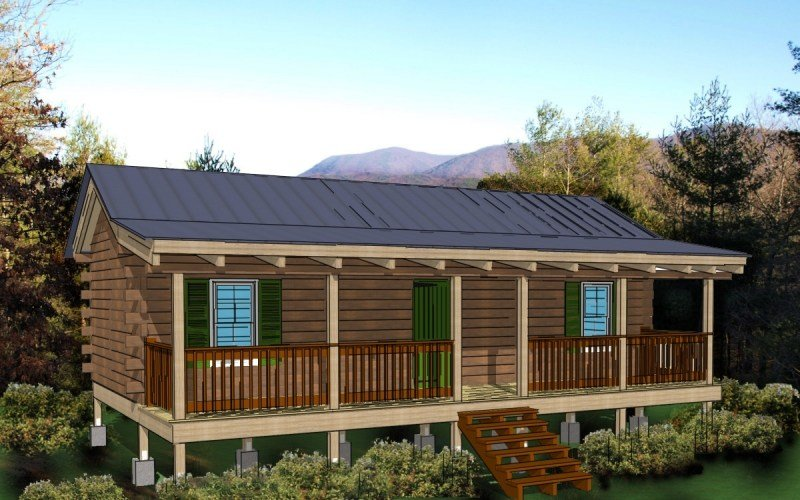 Best Hunting Cabin Kit 2 Bedroom Log Cabin Plan With Pictures