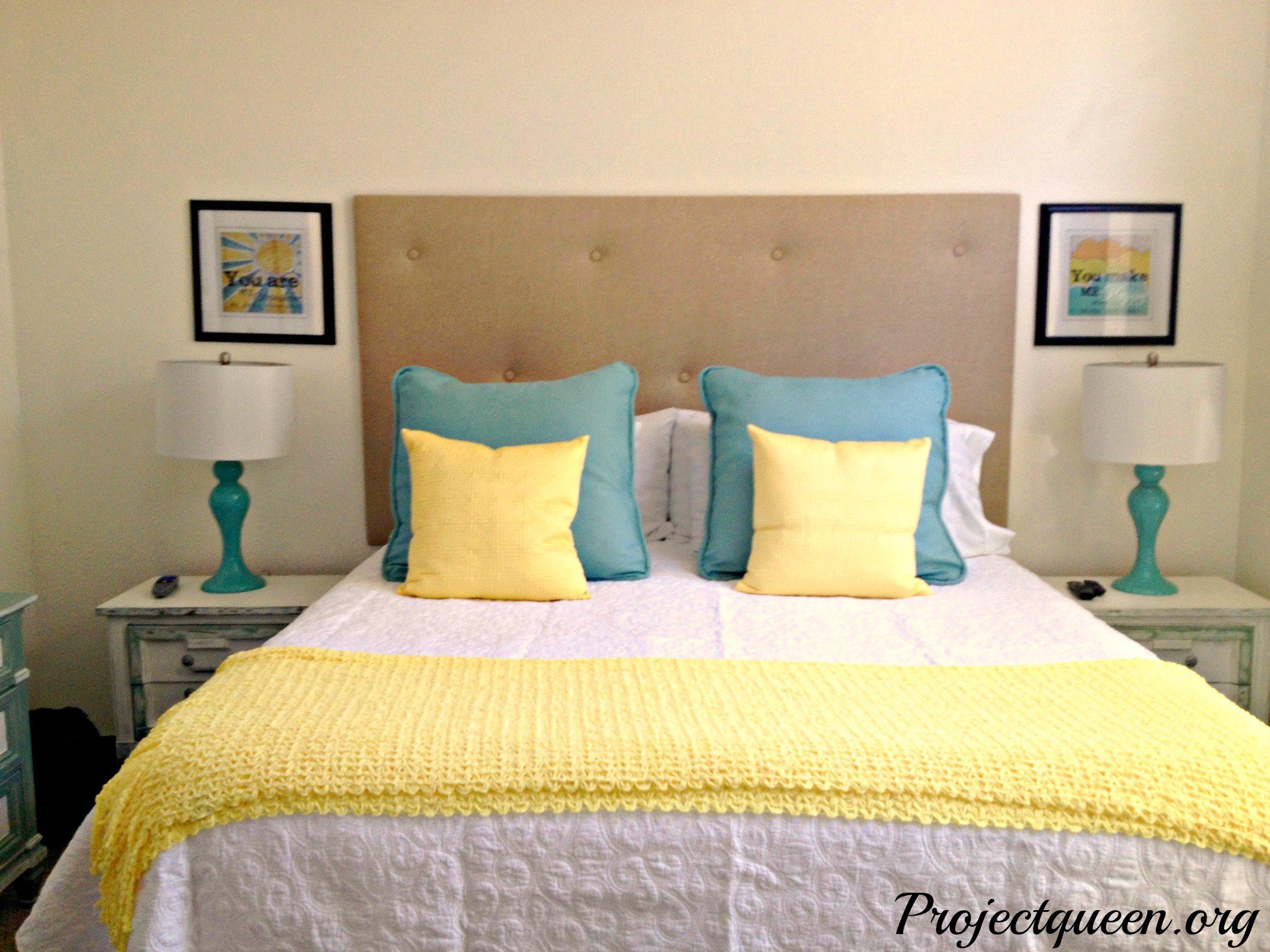 Best Master Bedroom Update – Vintage Blue Yellow And White With Pictures