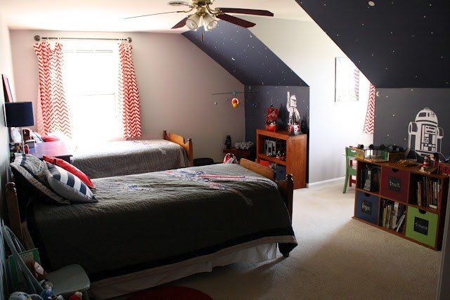 Best Sawyer S Room Stars Star Wars Room Ideas Boys Room With Pictures