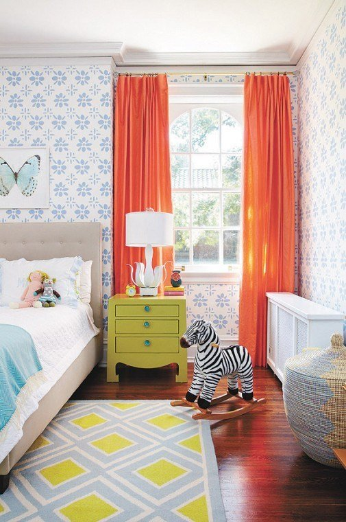 Best Curtains Colors For Kids Room Interior Decorating With Pictures