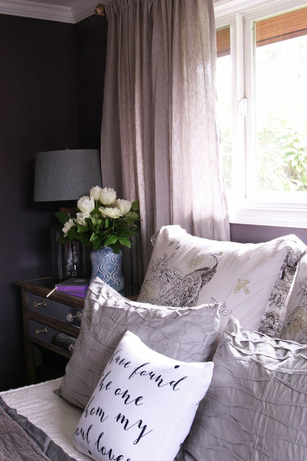 Best Master Bedroom Sneak Peek Black Frosted Plum Walls With Pictures