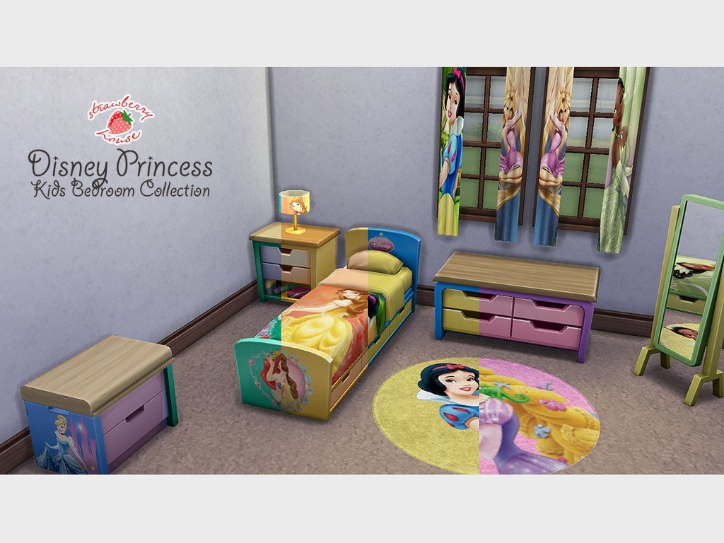 Best Mod The Sims Disney Princess Kids Bedroom Collection With Pictures