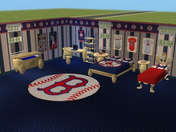 Best Mod The Sims Boston Red Sox Bedroom Requested By With Pictures
