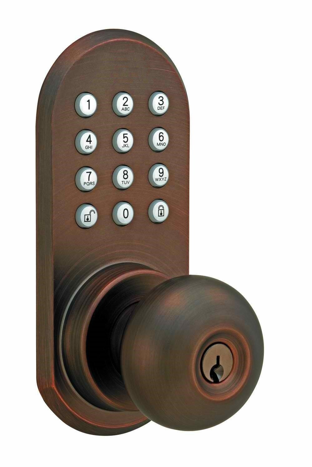Best Keyless Entry Door Locks With Remote Schlage Accent Satin With Pictures