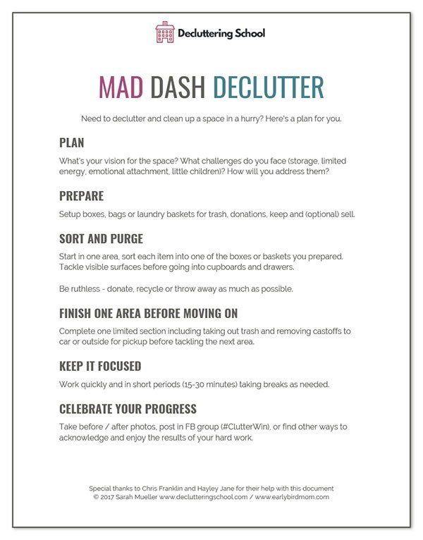 Best How To Declutter A Room In A Hurry Free Printable Checklist With Pictures