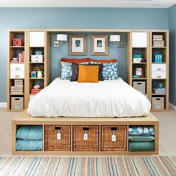 Best 25 Creative Ideas For Bedroom Storage 2017 With Pictures