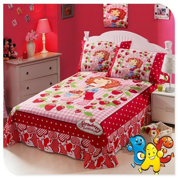 Best Quality Strawberry Shortcake Bedding Kids Bedding Set Single Full Double Size 100 Cotton With Pictures