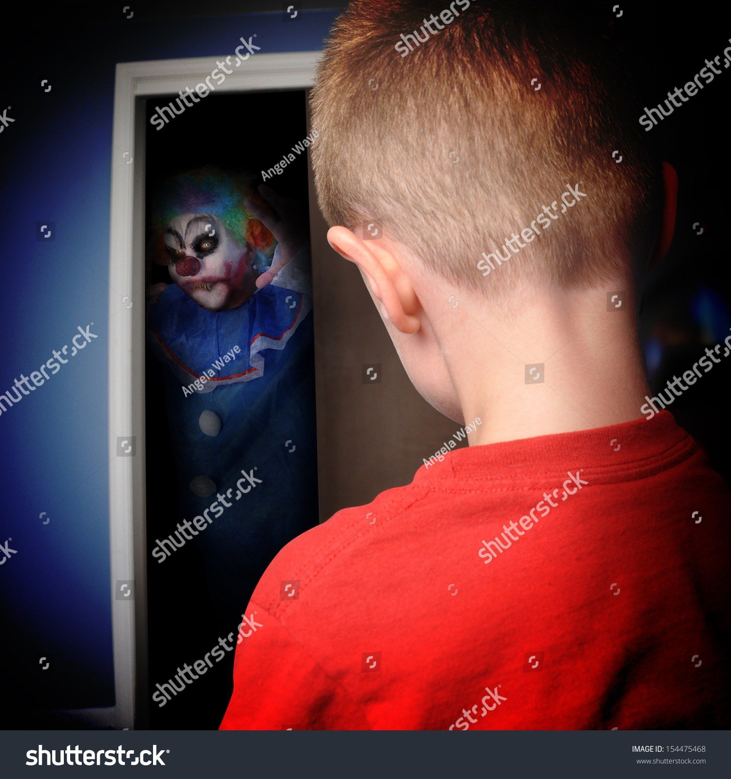 Best A Scary Clown Is Coming Out Of A Boys Closet In His With Pictures