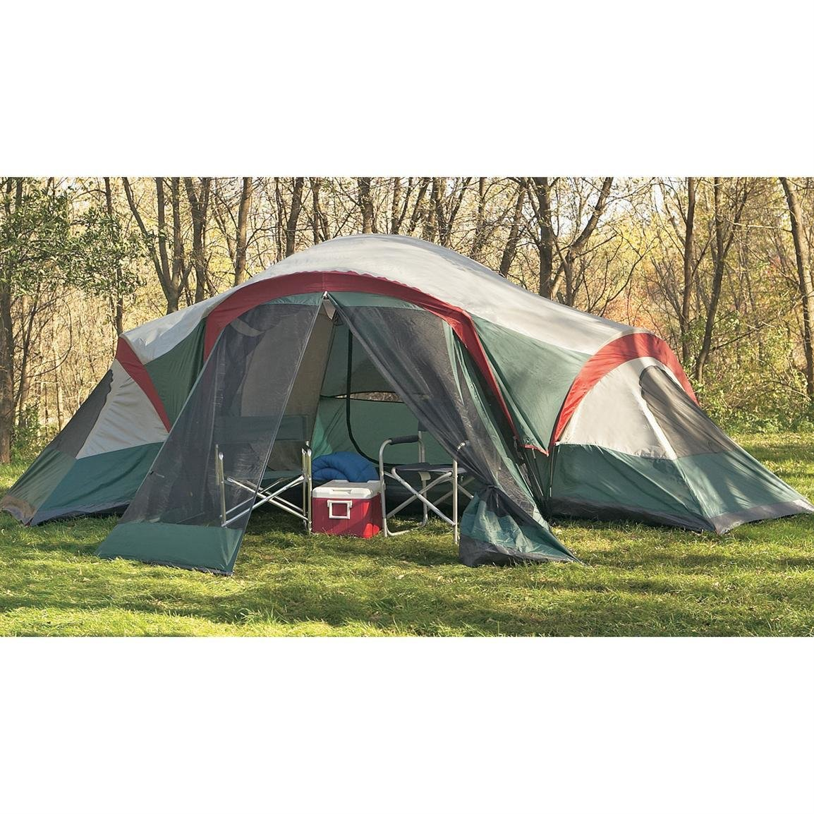 Best Guide Gear™ 3 Room Family Dome Tent With Screened Porch With Pictures