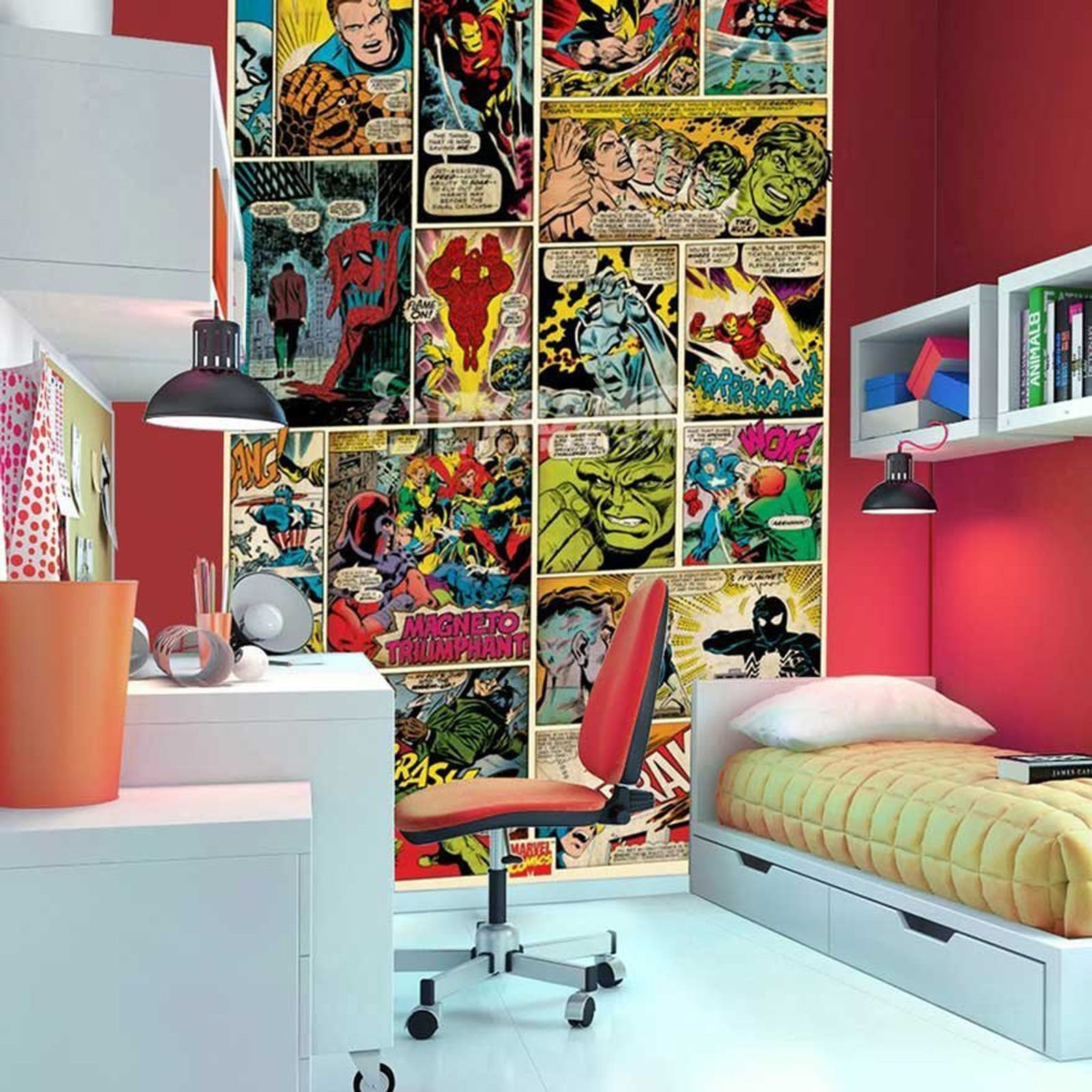 Best Marvel Comics And Avengers Wallpaper Wall Murals Décor Bedroom With Pictures