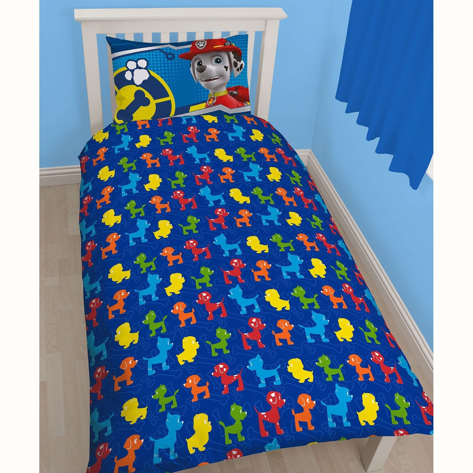 Best Paw Patrol Rescue Bedroom Range Single Duvet Cover Curtains Available Kids New Ebay With Pictures