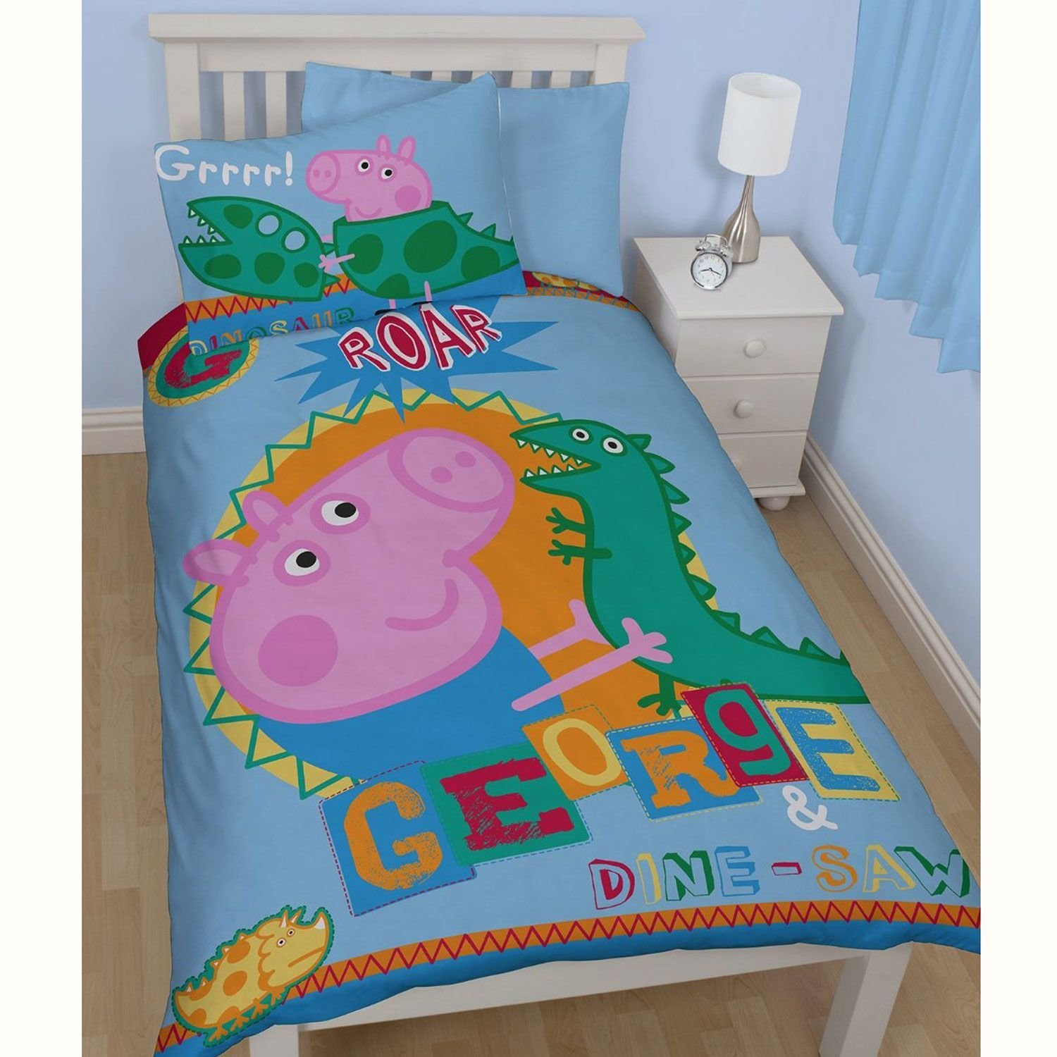 Best Official Peppa Pig George Bedding Duvet Cover Sets Room With Pictures