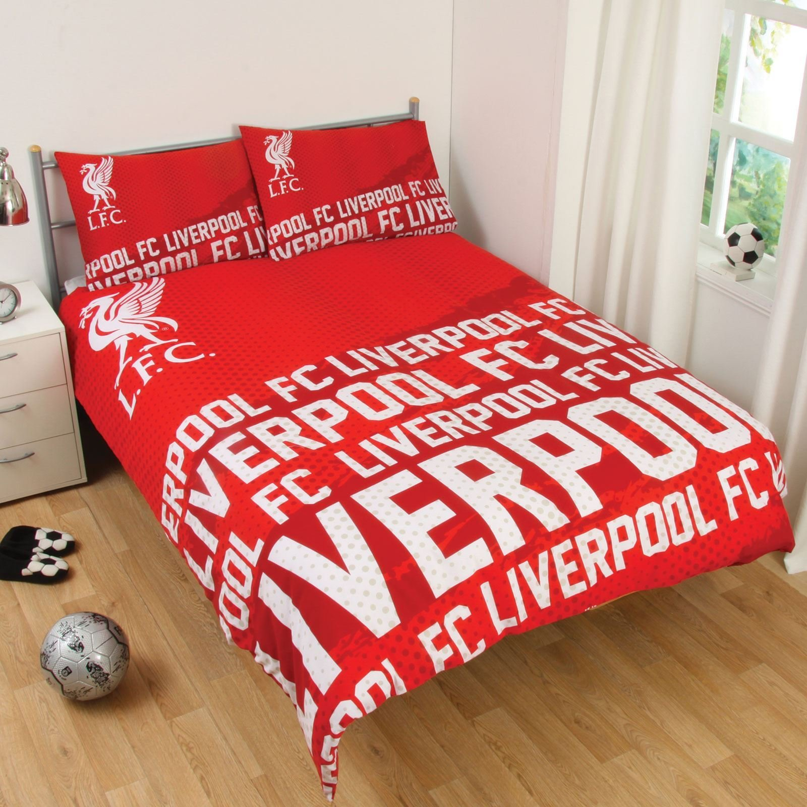 Best Liverpool Fc Single And Double Duvet Cover Sets Bedroom Bedding Free P P Ebay With Pictures