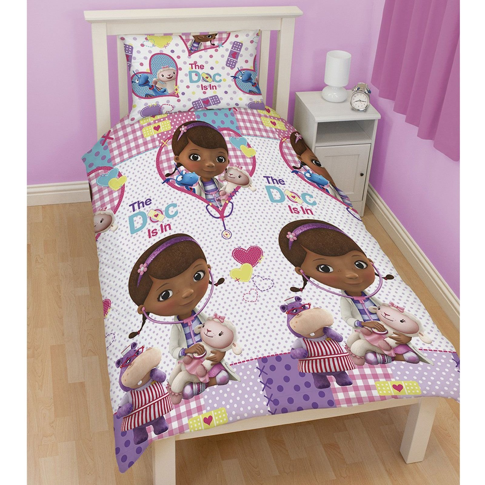 Best Doc Mcstuffins Bedroom Bedding Duvet Covers In Single And With Pictures