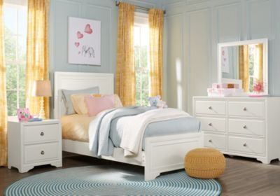 Best Belcourt Jr White 5 Pc Full Panel Bedroom T**N Bedroom Sets Colors With Pictures