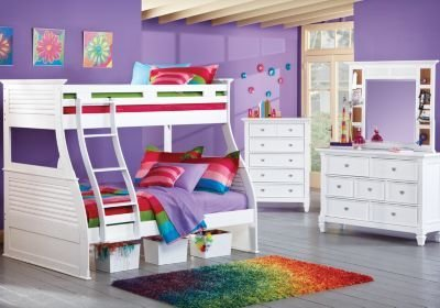 Best Belmar White 6 Pc Twin Full Bunk Bedroom Bedroom Sets Colors With Pictures