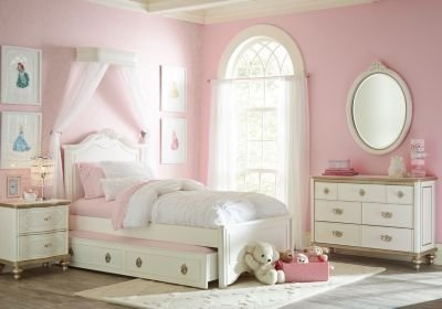 Best Disney Princess Enchanted Kingdom White 5 Pc Full Panel Bedroom T**N Bedroom Sets Colors With Pictures