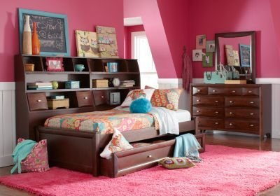 Best Ivy League Cherry 7 Pc Full Daybed Bedroom Girls With Pictures