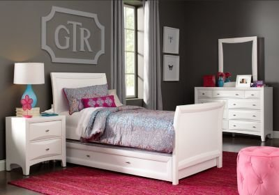 Best Ivy League White 6 Pc Full Sleigh Bedroom T**N Bedroom Sets White With Pictures