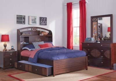 Best Nfl Playbook Espresso 5 Pc Twin Bookcase Bedroom Boys With Pictures