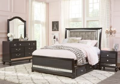 Best Sofia Vergara Petit Paris Black 6 Pc Full Sleigh Bedroom With Pictures