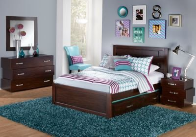 Best Quake Cherry 5 Pc Full Panel Bedroom Bedroom Sets Dark Wood With Pictures