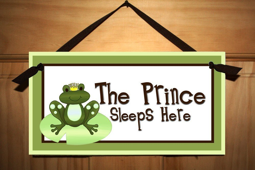 Best Frog Prince Boys Baby Nursery Bedroom Door Sign By Toadandlily With Pictures