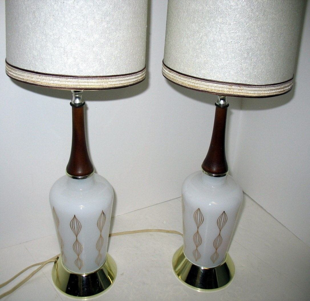 Best Vintage Mid Century Modern Table Lamps Bedroom By That70Sshoppe With Pictures
