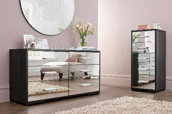 Best Black Mirrored Glass Bedroom Furniture Make Your Home With Pictures