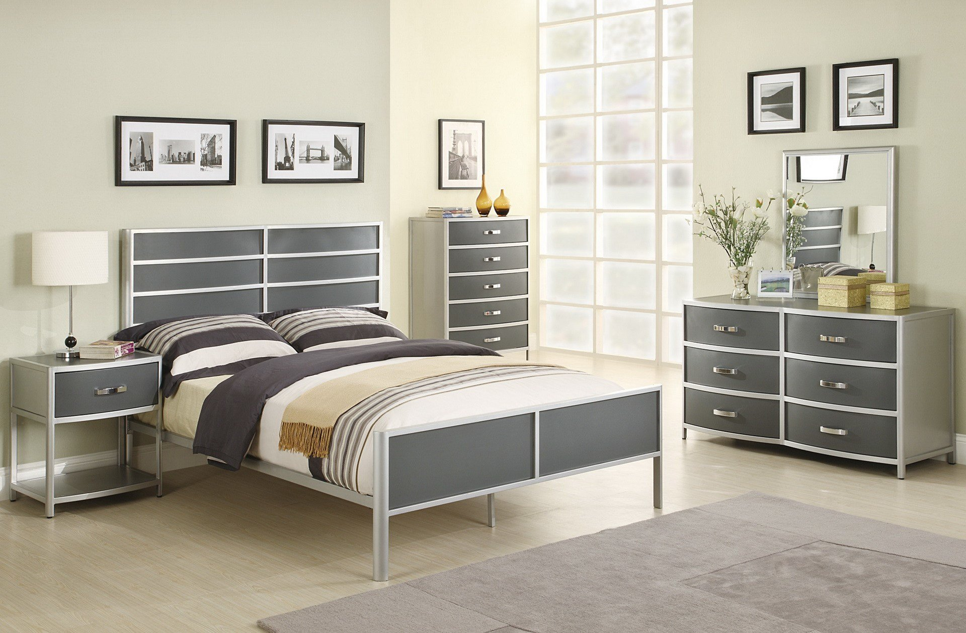 Best Silver Bedroom Furniture Sets Reflect A Clean And With Pictures