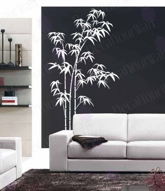 Best Bamboo Wall Decal Large Tree Decals Living Room Bedroom With Pictures