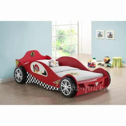 Best Kids Racing Car Bed Single Size 3Dwheel Children Bedroom With Pictures