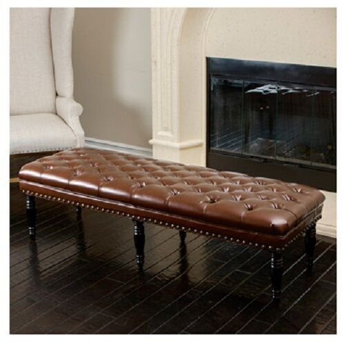 Best Brown Leather Bench Living Room Bedroom Ottoman Benches With Pictures