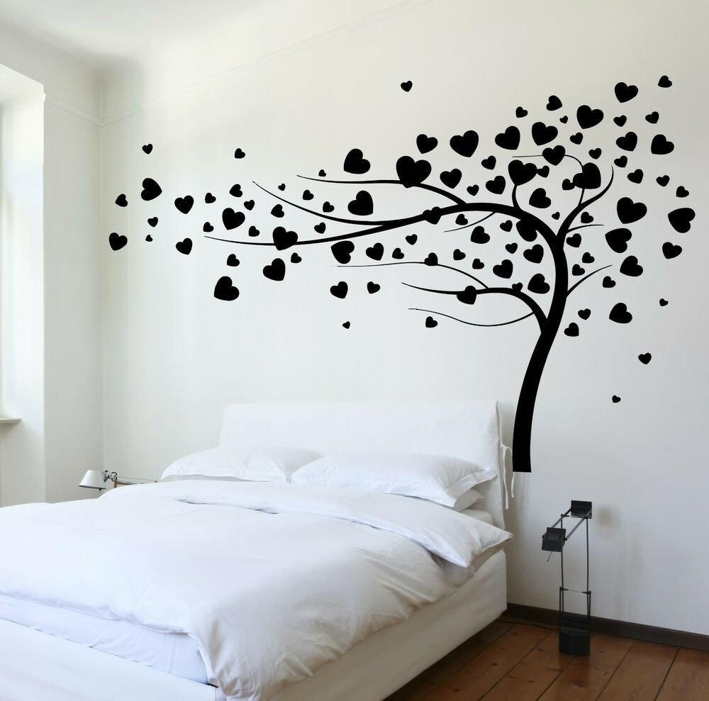 Best Wall Decal Tree Branch Hearts Leafs For Bedroom Vinyl With Pictures