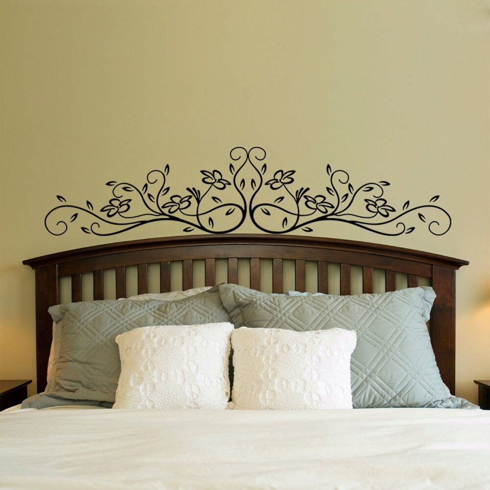 Best Large Vinyl Wall Decal Sticker Bedroom Headboard Pattern With Pictures
