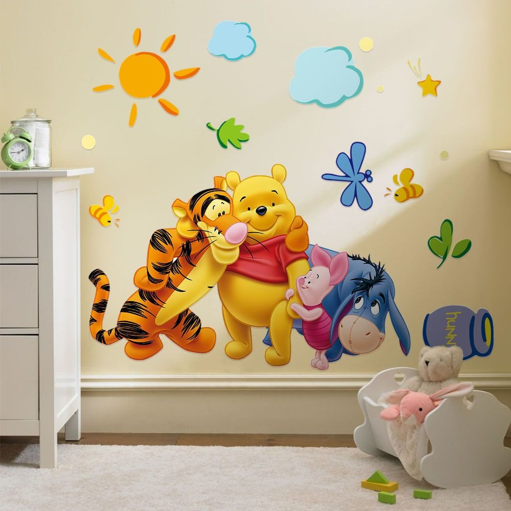 Best Winnie The Pooh Vinyl Mural Wall Sticker Decal Removable With Pictures