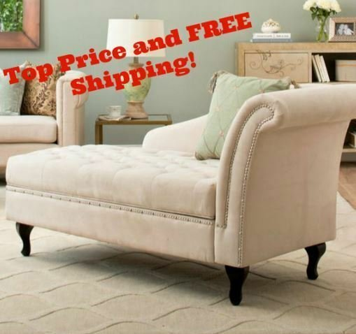 Best Storage Chaise Lounge Bedroom Accent Seat Tufted Cushion With Pictures