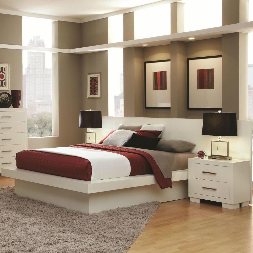 Best Cool Contemporary Lighted King Platform Bed Nightstands With Pictures
