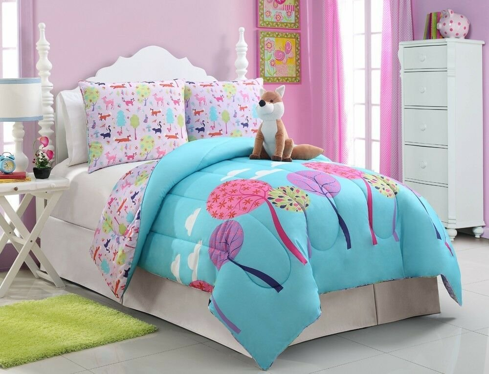 Best Girls Kids Bedding Foxy Lady Comforter Set Full Size Ebay With Pictures
