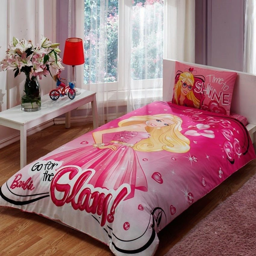 Best Barbie Glam Bedding Set Twin Ebay With Pictures
