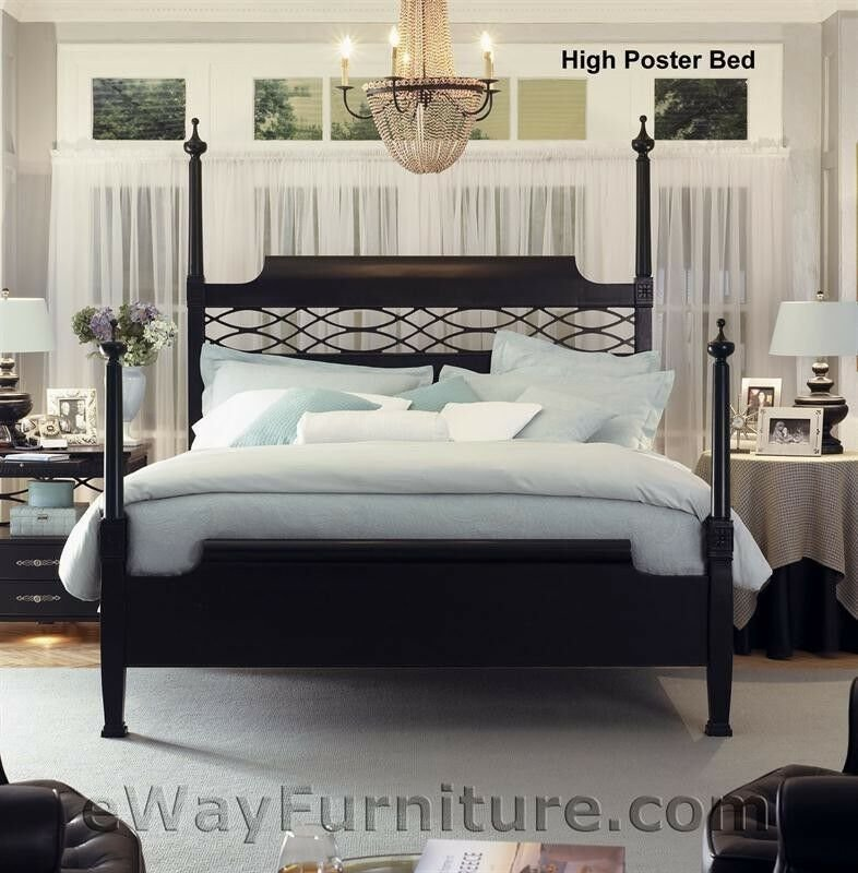Best New American Federal King Black Wood Four Poster Bed With Pictures